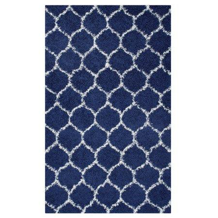 Modern Contemporary Urban Design Living Lounge Room Area Rug Runner Floor Carpet, Fabric, Multi Navy (Navy Blue Runner)