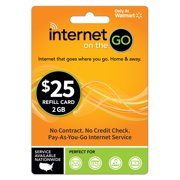 $25 Internet on the Go® (IOTG) 2.0 GB refill card (Email Delivery)