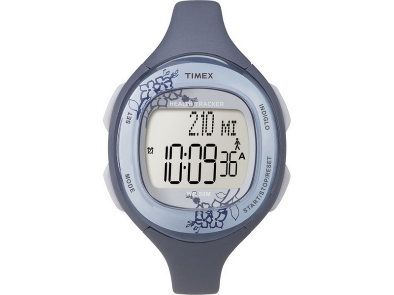 Timex T5K484 Health Tracker Blue Rubber Bracelet With Digital Dial Watch NWT by Timex