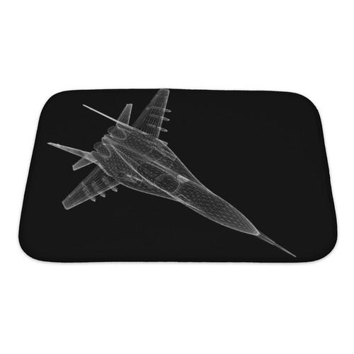 Gear New Aircraft Fighter Plane Model, Body Structure, Wire Model Bath Rug