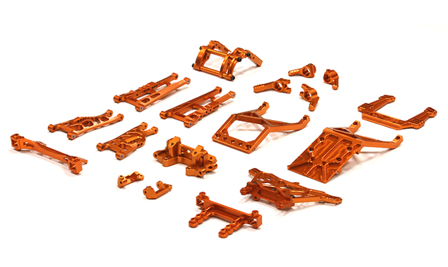 Integy RC Toy Model Hop-ups T8139ORANGE Billet Machined Alloy Conversion Set for Traxxas 1... by Integy