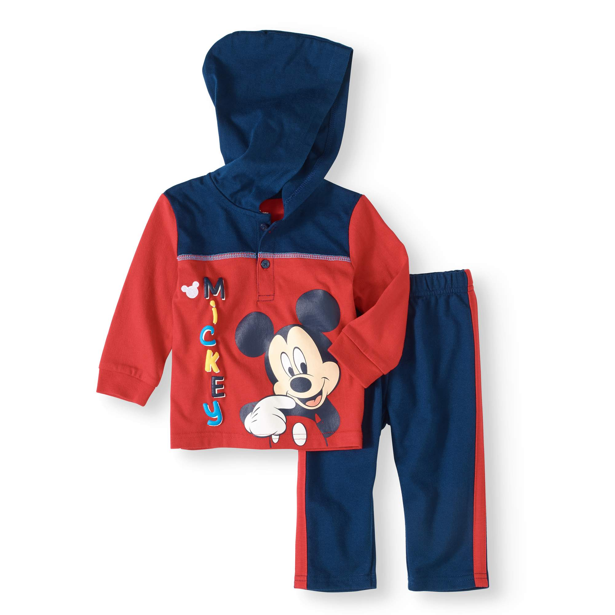 Newborn Baby Boy Hoodie and Pants 2-Piece Outfit Set