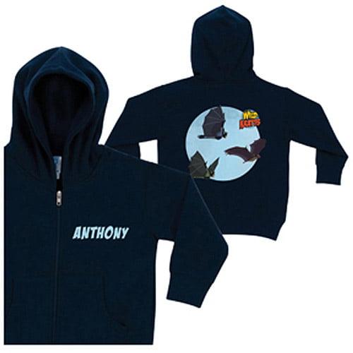Personalized Wild Kratts Bat Power Navy Boys' Zip-Up Hoodie