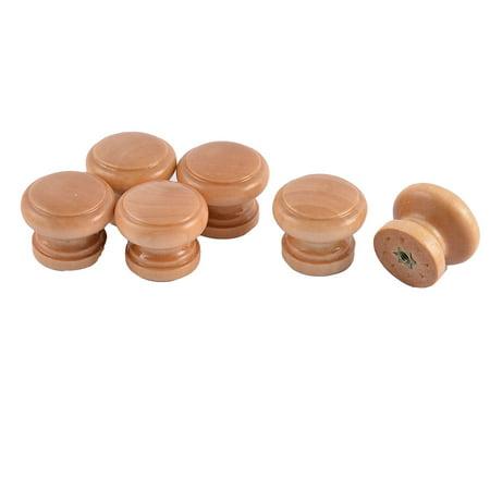 Diamètre 28 mm Tête Ronde placard Tiroir meubles bois Poignée Tirer bouton 6pcs - image 2 de 2