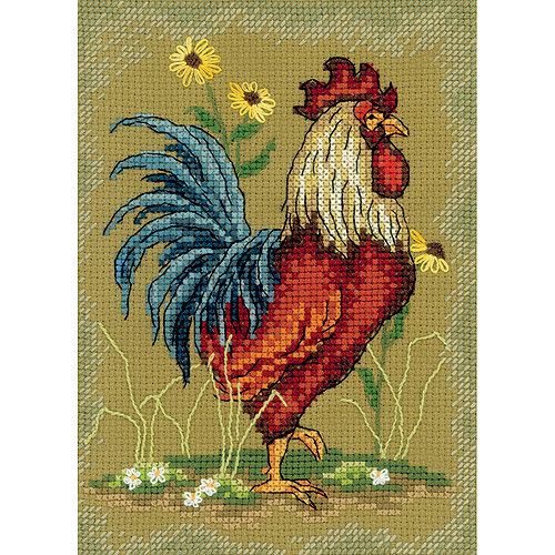 """At The Crack Of Dawn I Counted Cross-Stitch Kit, 4-3/4"""" x 6-3/4"""", 14-Count"""