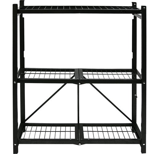 Origami General Purpose Shelving Unit Black Walmart