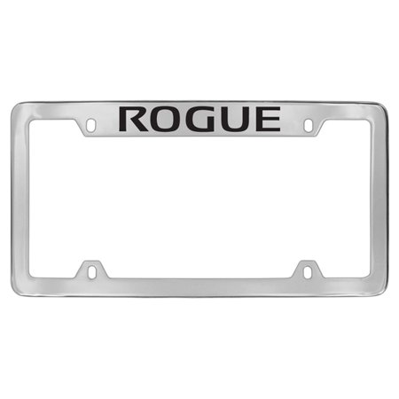 Nissan Rogue Chrome Plated Metal Top Engraved License Plate Frame ...