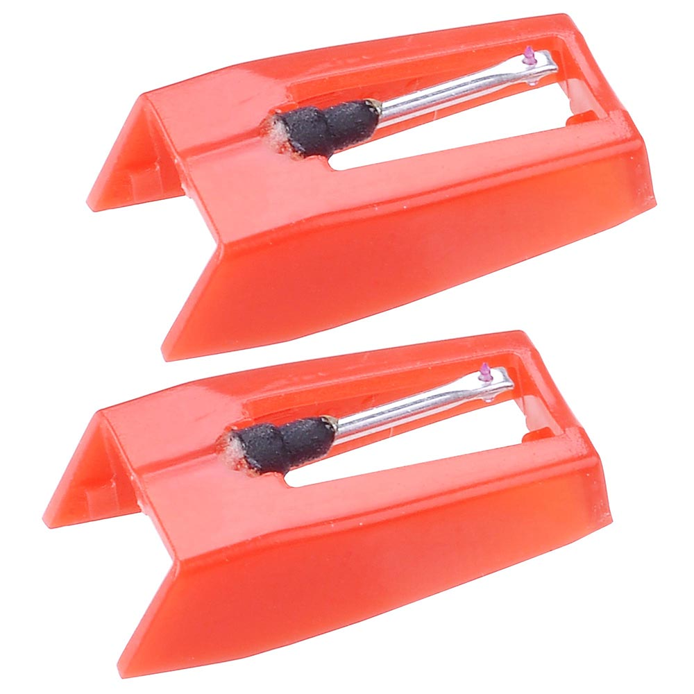 Yescom Pack of 2 Replacement Stylus Turntable Needle for Vinyl Record Player Ruby Tipped