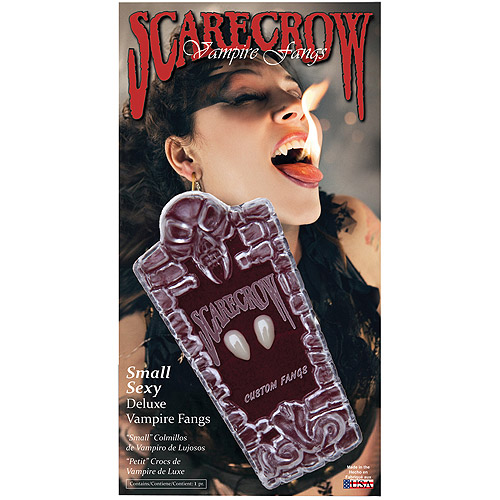 Sassy Small Scarecrow Fangs Adult Halloween Accessory