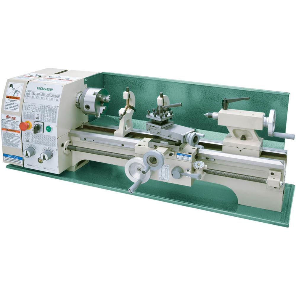 "Grizzly G0602 10"" x 22"" Bench Top Metal Lathe by"