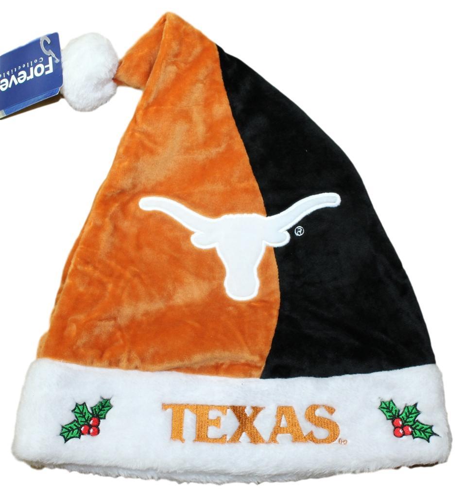 Texas Longhorns 2017 NCAA Basic Logo Plush Christmas Santa Hat