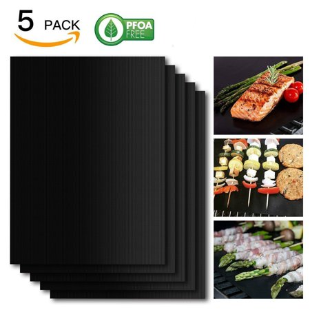 Tagital Grill Mat 5 PCs, 100% Non-Stick BBQ Grill & Baking Mats, PFOA (Best Grill Mat Review)