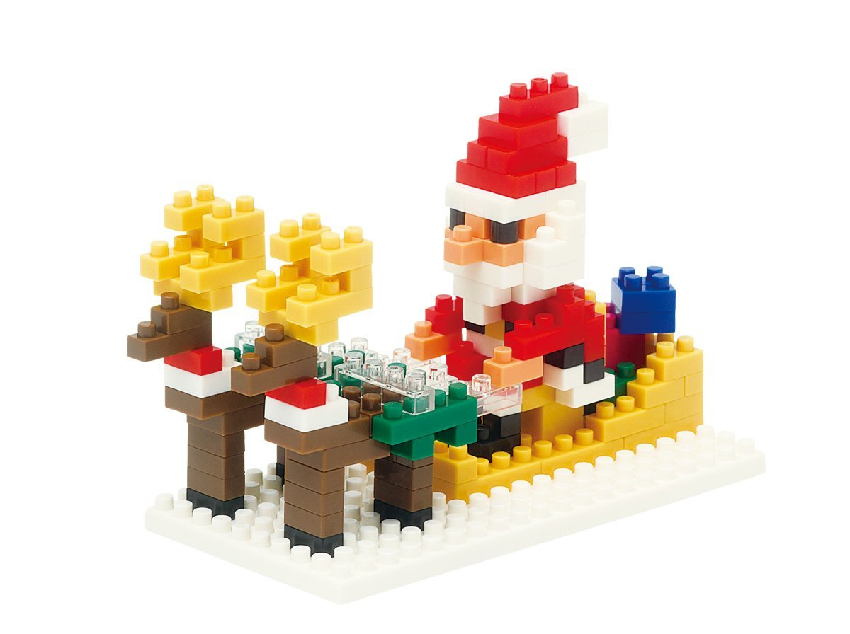 Santa and Reindeer Building Set (170 Piece), Now, Dasher! now, dancer! now, Prancer, and... by