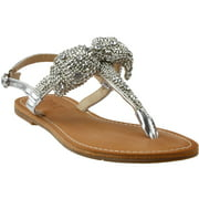 Dolce by Mojo Moxy  Womens Sienna Rhinestone Flat T-Strap Sandals Sandals Casual