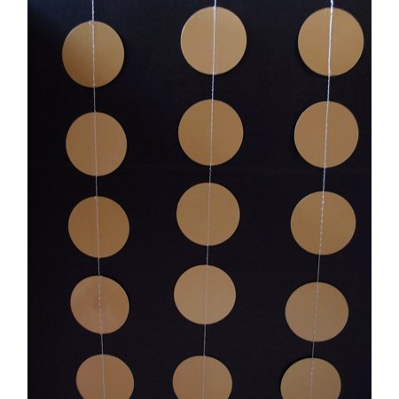 Quasimoon Gold Paper Circle Garland by PaperLanternStore