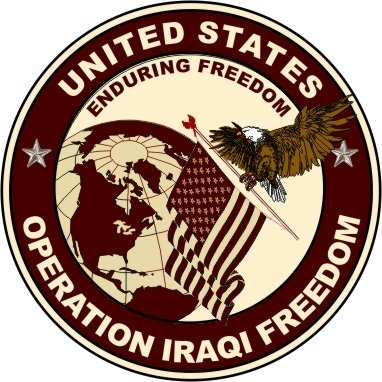Operation Decal (United States Army Operation Enduring Freedom Decal Sticker 3.8