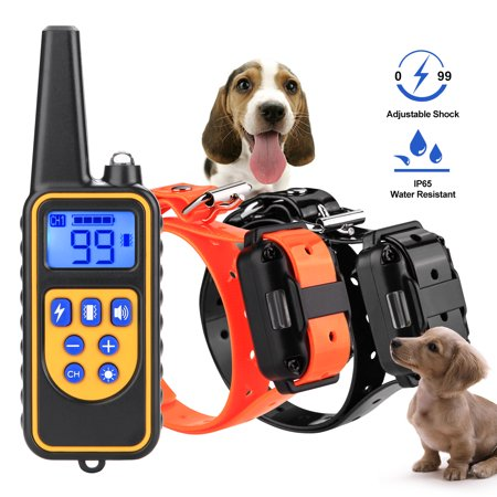 Ownpets Dog Shock Collar With Remote Waterproof Electric For Large 875 Yard Pet Training Dog Shock Collar Remote