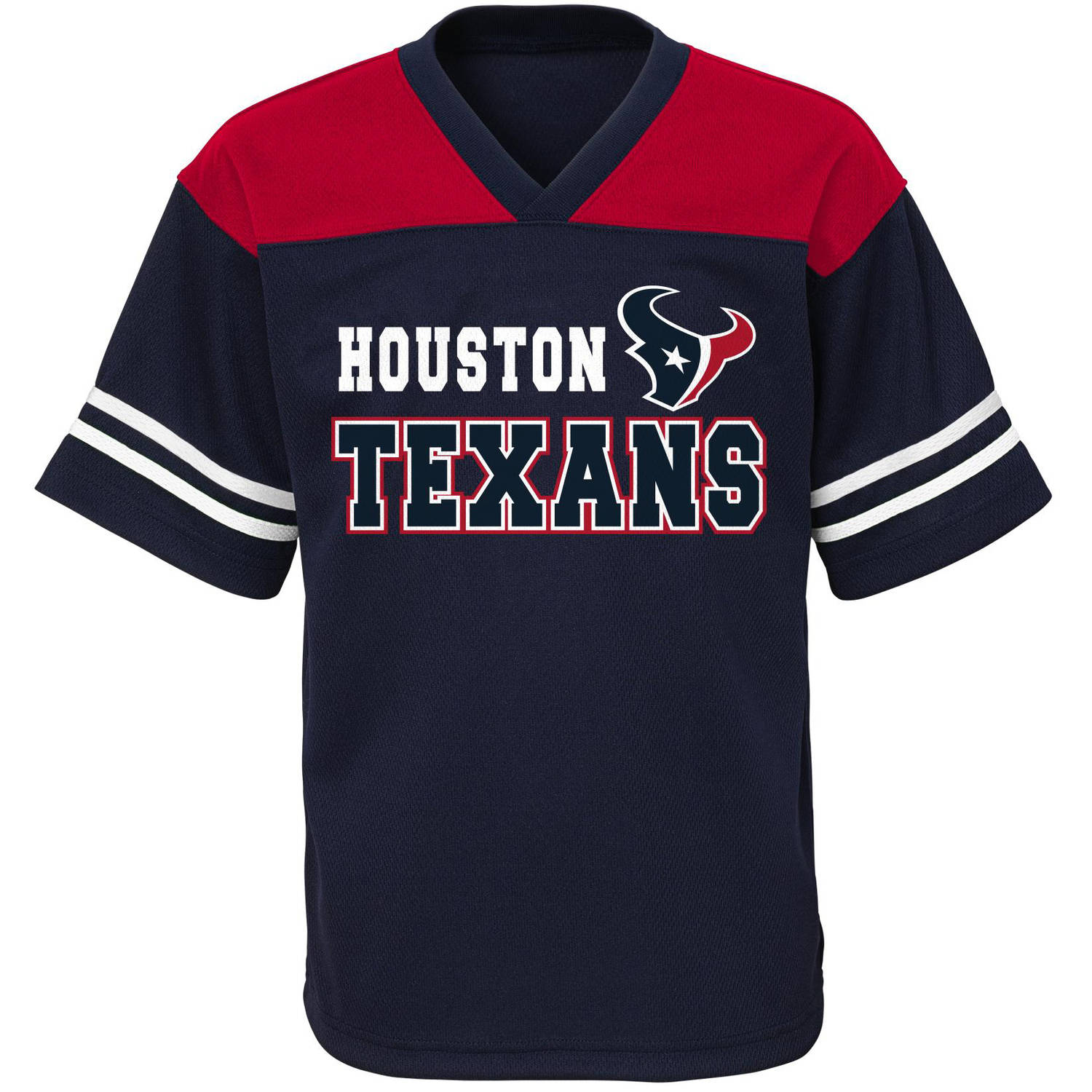NFL Boys' Houston Texans Short Sleeve Mesh Team Top