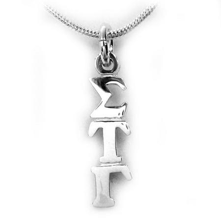 Sigma Tau Gamma Fraternity Lavalier - Sterling Silver - With (Tau Sigma Phi)