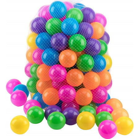 Pit Ball 200 Pack - Ball Pit Balls Crush Proof,  BPA Free - Includes Reusable Zipper Mesh Bag - 6 Colors - Ball Pit For Kids and Baby - Ball Pit For Any Ball Pool - Original