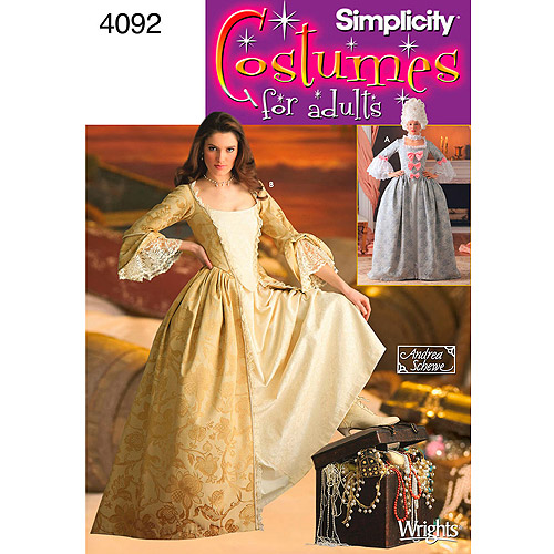 Simplicity Pattern Misses' 18th Century Costume, (14, 16, 18, 20, 22)