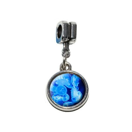 Jellyfish - Blue Jelly Fish Ocean Underwater European Style Bracelet Charm](80s Jelly Bracelets)