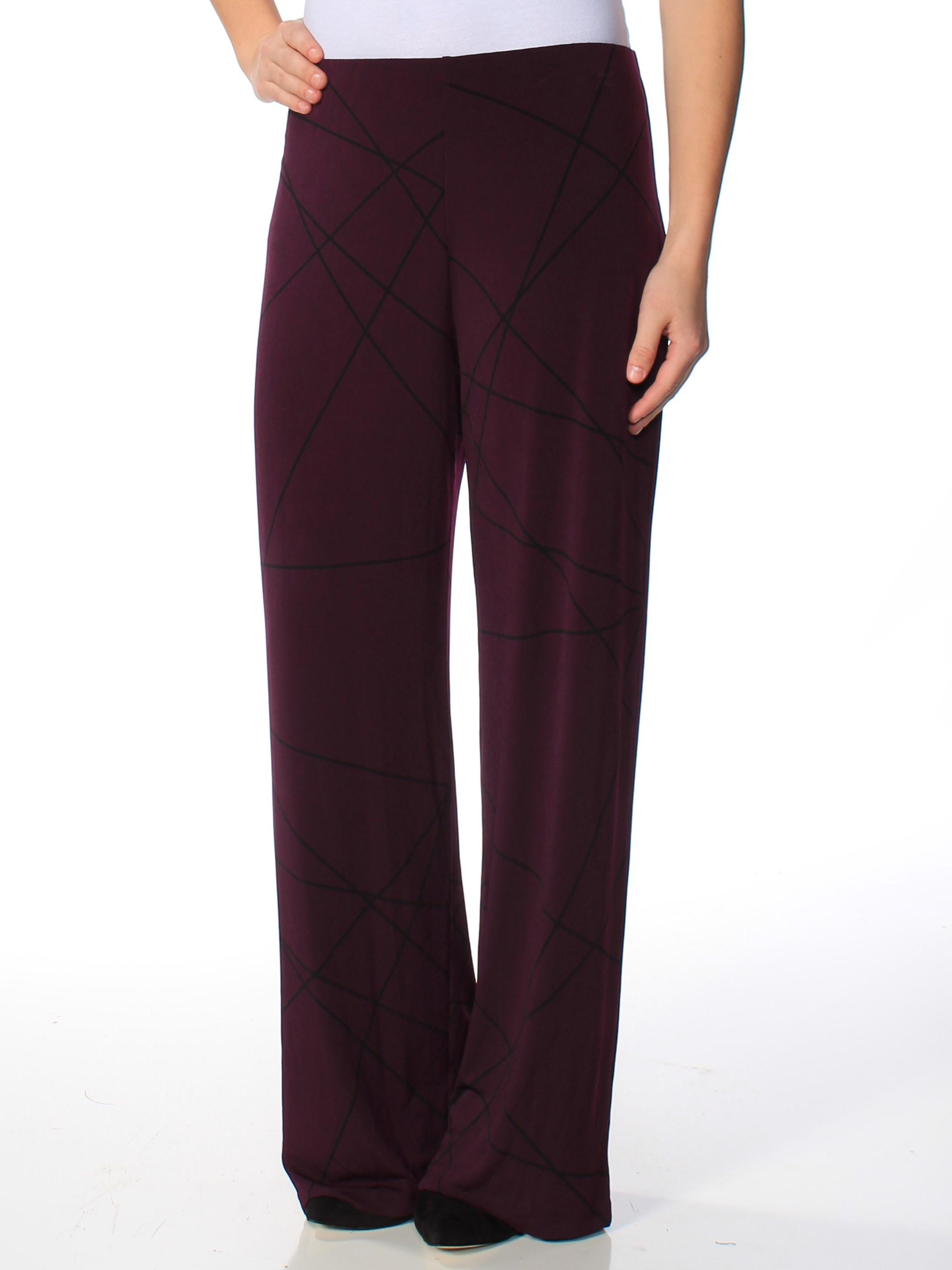 ALFANI Womens Purple Printed Pants  Size: XXL
