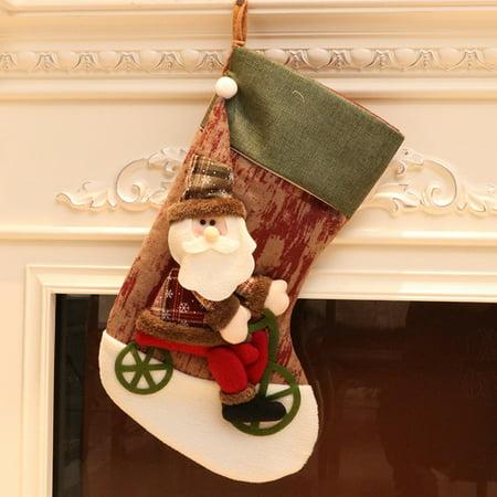 Christmas Decorations New Year Gifts Santa Snowman Socks Christmas Socks Gift GN ()