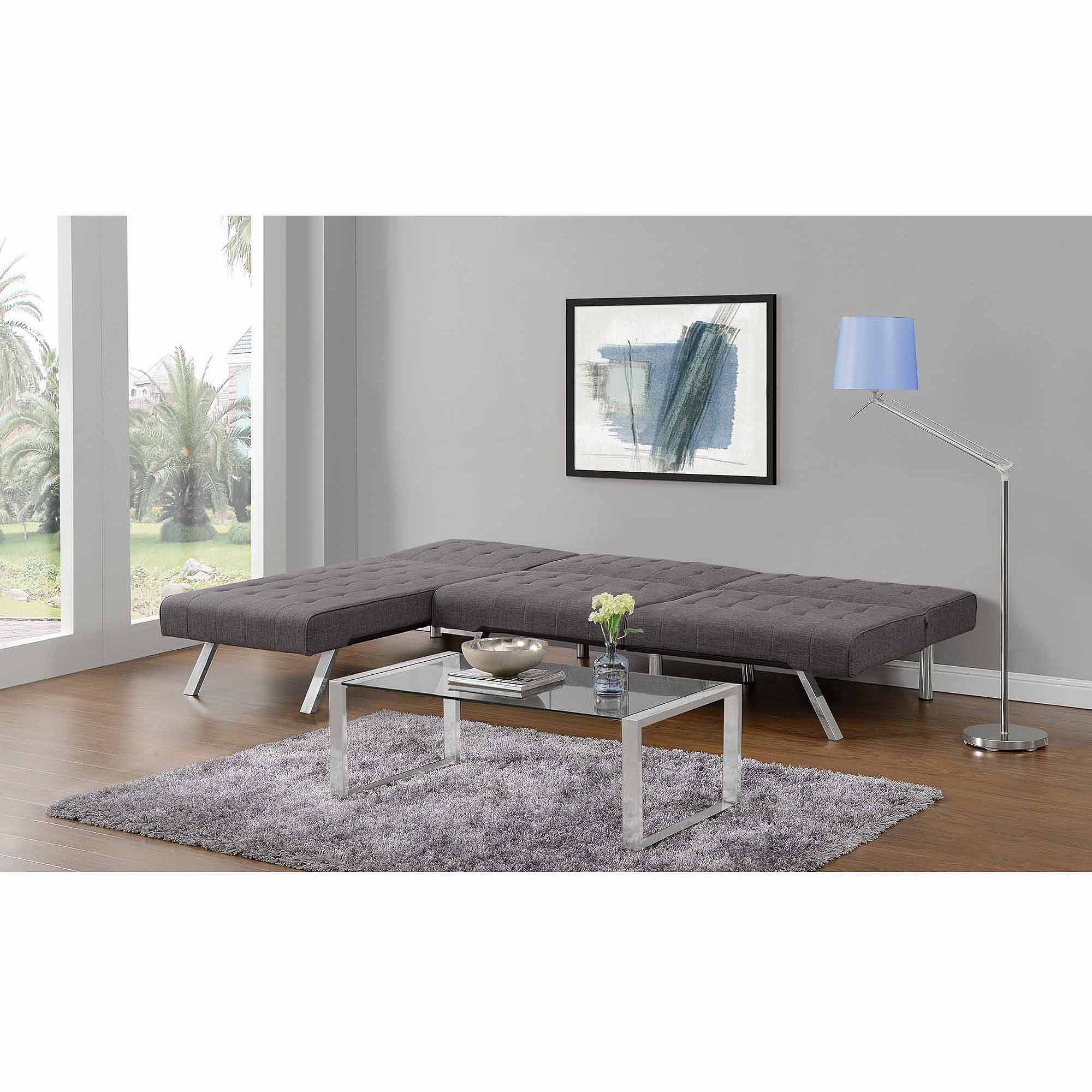Convertible Futon Sofa Couch Seat Chair Living Room Furniture New Home Line Gray