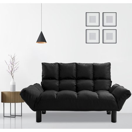 - Harper&Bright Designs Adjustable Backrest Loveseat, Black