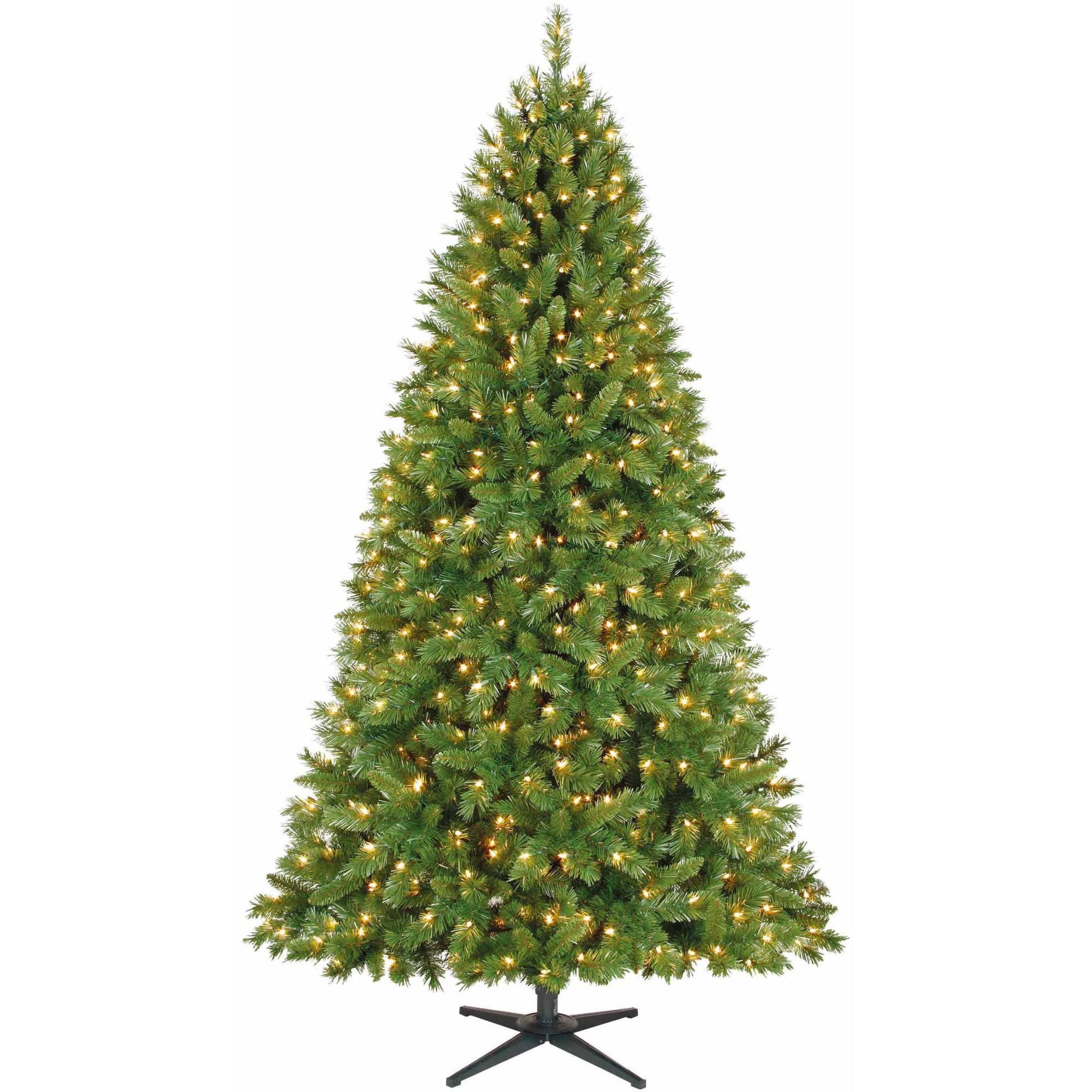 Artificial Christmas Tree Pre-Lit 7.5' Kennedy Fir, Clear Lights ...