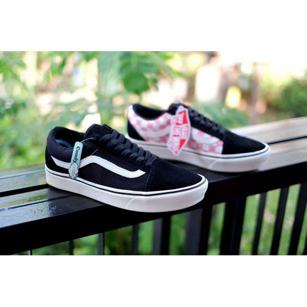 Vans Comfycush Old Skool Split Black/Strawberry Men's Skate Shoes Size 10