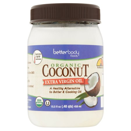 Betterbody Foods Organic Coconut Extra Virgin Oil, 15.5 fl oz, 6 (Virgin Coconut Oil Brands In The Philippines)