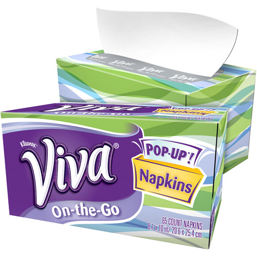 Viva On-the-Go Napkins, 65 count