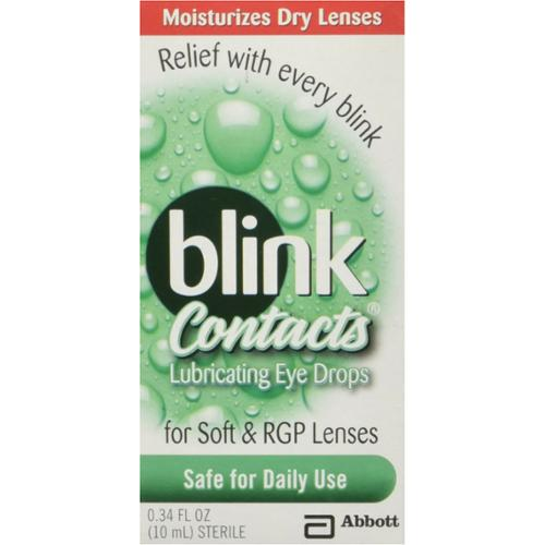 blink Contacts Lubricating Eye Drops 10 mL (Pack of 2)