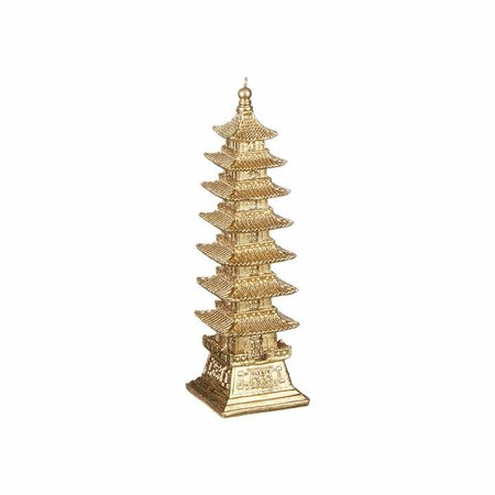 GOLDEN PAGODA Resin Christmas Ornament, by Raz Palm Resin Ornament
