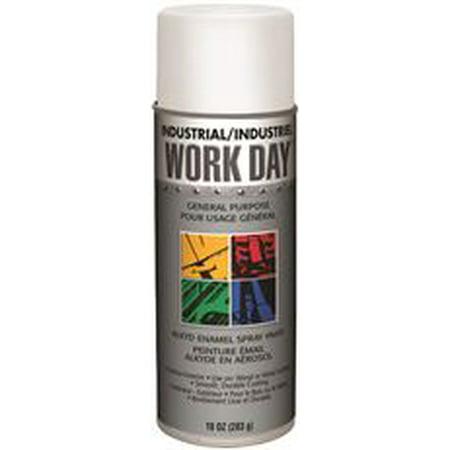 Krylon Spray Enamel  10 Oz  Can  Flat White