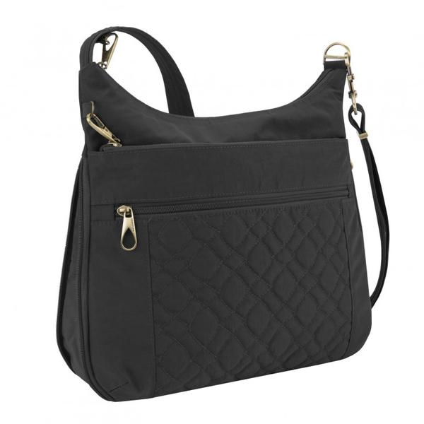 Travelon Anti-Theft Signature Quilted Expansion Crossbody Black