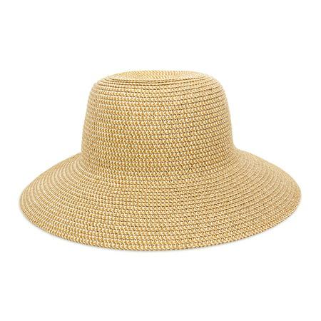 MAGID WOMEN'S SOLID PAPER STRAW FLOPPY SUN HAT