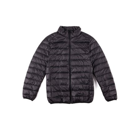 Boys Mcmurdo Down Parka - Men's Down Jacket Puffer Bubble Coat Packable Lightweight Warm Parka Zipper Coat Up to Size 4XL Black/Blue/Gray