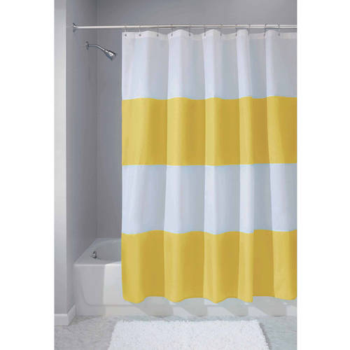 Interdesign Mildew Free Water Repellent Zeno Fabric Shower Curtain Various Sizes