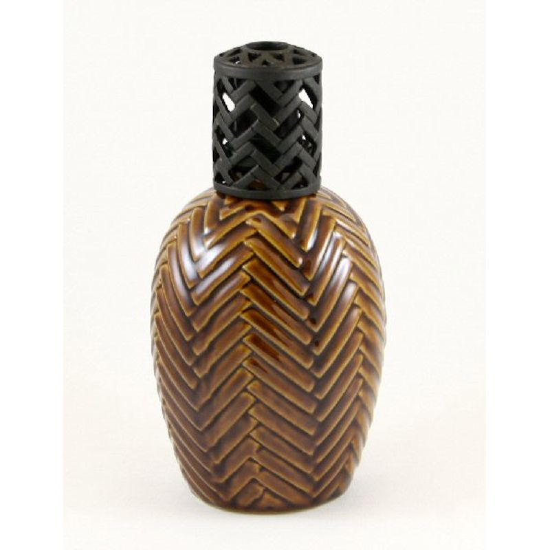 La Tee Da 54702 Tobacco Herringbone Oil Lamp by La Tee Da