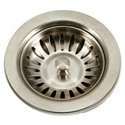 Houzer 190-9180 Stainless Steel Sink Basket Strainer for 3.5-Inch Drain Openings