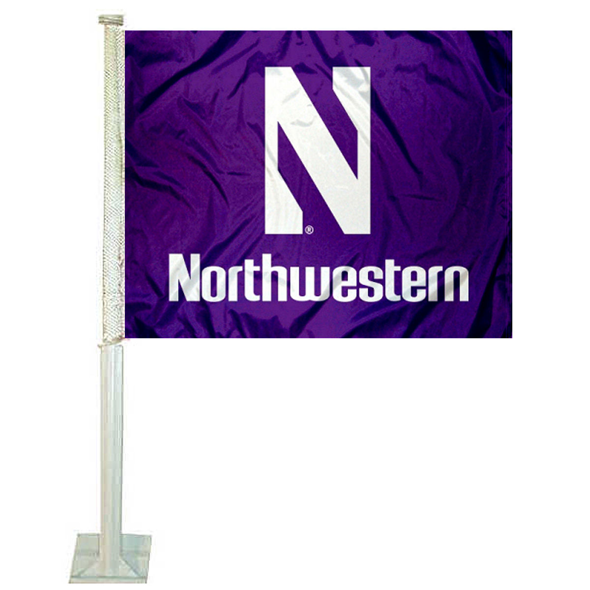 "Northwestern University 12"" x 15"" Car Flag"