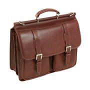 Siamod 25594 Signorini Brown Leather Double Compartment Laptop Case