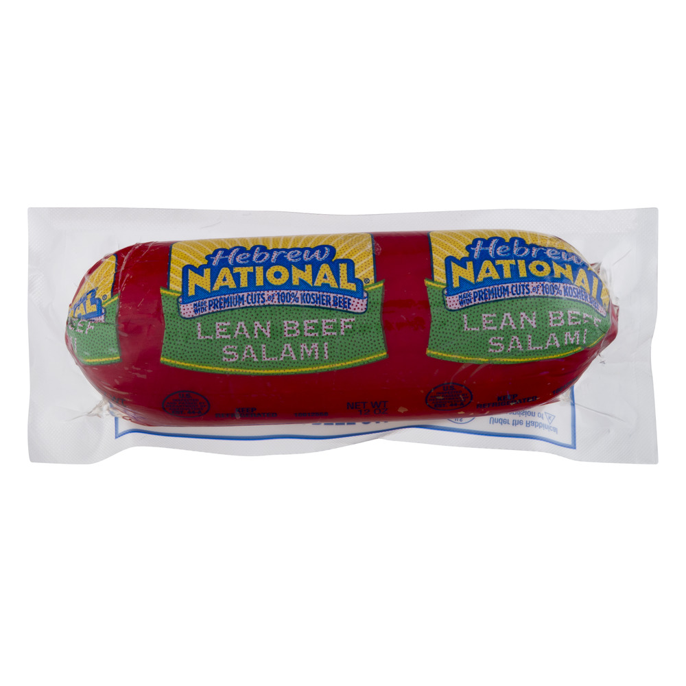 Hebrew National Lean Kosher Beef Salami, 12.0 OZ