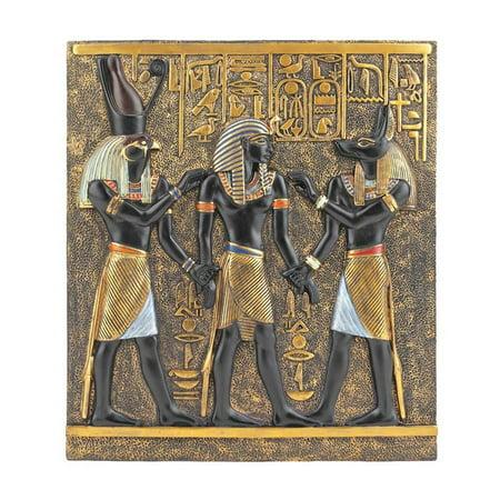 Egyptian Plaque (Classic Egyptian Collection Rameses Horus Anubis Wall Plaque Frieze Decor)