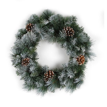Glacier Christmas Wreath: 18in - 105 tips