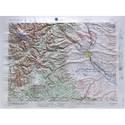 American Educational Products Nl106 Yakima Regional Raised Relief Map