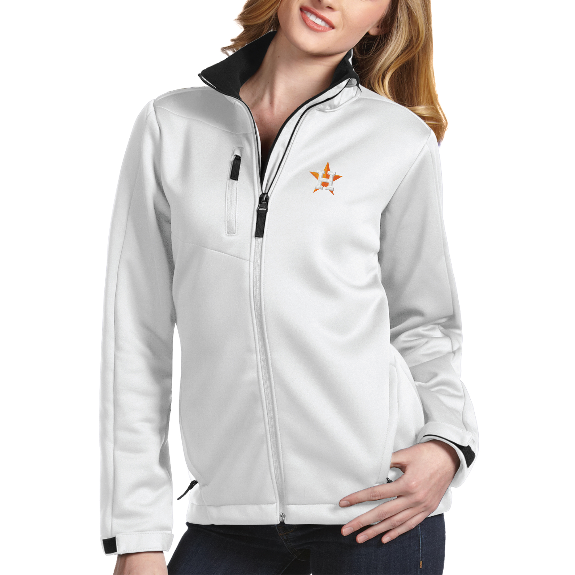 Houston Astros Antigua Women's Traverse Jacket White by ANTIGUA GROUP/ 22534